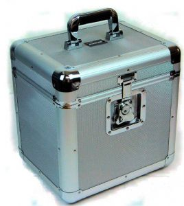 "Euro Style Aluminium 12"" LP Case with Silver Panels 70 Capacity"